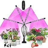 COKOLILA Pflanzenlampe Led, 4 Heads Grow lampe, 3 Modus,10 Dimmstufen und 360°Einstellbare Grow Light Vollspektrum mit Timer für Zimmerpflanzen