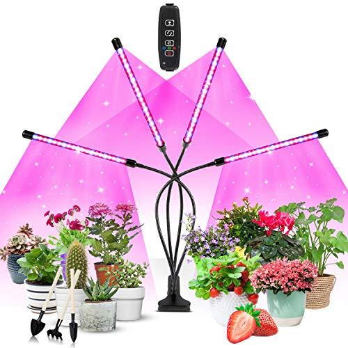 Växtlampa LED, växtljus, Corayer 80, odlingsljus, fullt spektrum, 10 dimmernivåer och 360° justerbar växtlampa med timer, 3-läges växtlampa för sticklingar och grönsaker