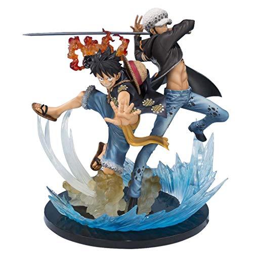 Siyushop Monkey D Ruffy & Trafalgar Law Edition zum 5. Jahrestag One Piece Action Figure - High 6.6 Inches