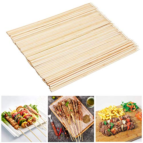 Fu Store Bamboo Skewers, 10 Inch Bamboo Sticks Shish Kabob Skewers,Grill, Appetizer, Fruit, Corn, Chocolate Fountain, Cocktail,Set of 200 Pack