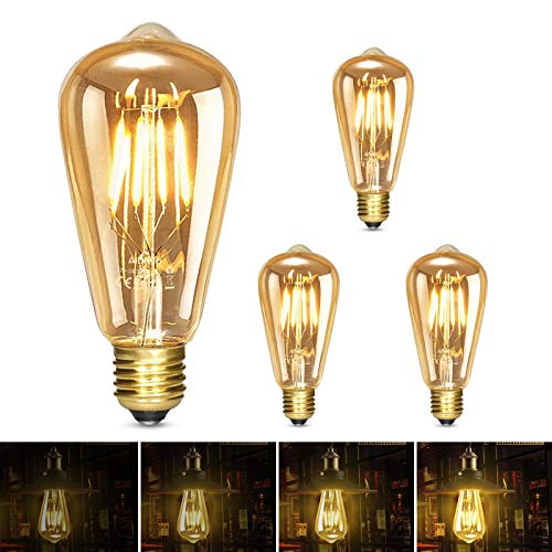 Albrillo Ampoule LED Edison E27, Dimmable Lampe Edison Vintage 6W 600Lm, Equivalent 60W, 2500K Blanc Chaud Rétro Filament Ampoule Decorative pour Bars, Restaurant, Café, Windows, Showrooms, Lot de 3