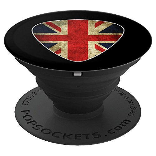 British Guitar Pick with Union Jack - Britain Rock PopSockets Grip and Stand for Phones and Tablets
