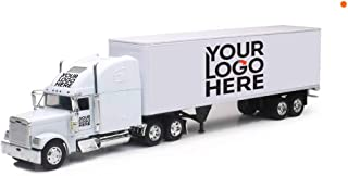 Shop72 Custom Truck Diecast NewRay Freightliner with Logo or Name for Promotional Use - White