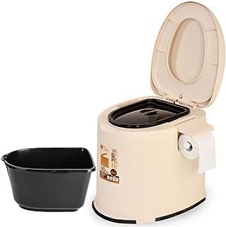 AiJiaA Xuan Inodoro portátil w/depósito de residuos para Viajes, Camping, canotaje, Camping, Camping, Hospital galón WC