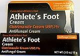 Clotrimazole Anti-Fungal Cream USP 1% by Generic Lotrimin - 0.5 Oz/Pack, 4 Pack