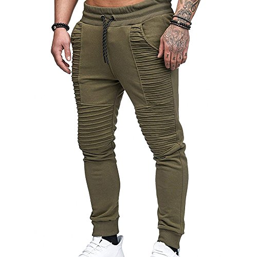 Celucke Herren Jogginghose Sweatpants Trainingshose Slim Fit,Männer Fitness Sport Jogging Biker Hose