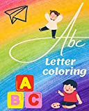 letter tracing and words with coloring: racing letters and words with coloring for kids. All letters from A-Z are accompanied by two words for each letter