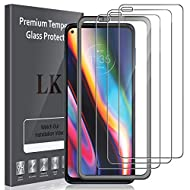 LK 3 Pack Screen Protector compatible with Motorola Moto G 5G Plus, HD Clear Scratch Tempered Glass ...