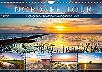 Nordsee-Tour (Wandkalender 2022 DIN A4 quer): Maritime Highlights an der Nordsee (Monatskalender, 14 Seiten )