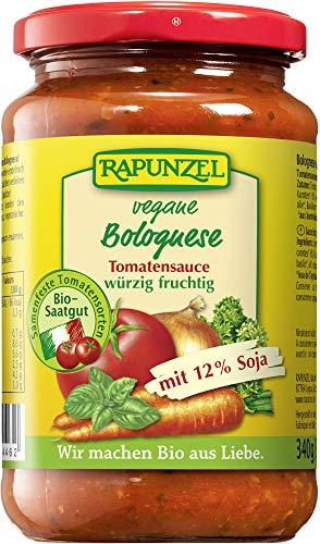 Rapunzel Bio Tomatensauce Bolognese, vegetarisch, mit Soja (6 x 330 ml)