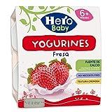 Hero Baby Yogurines Tarrinas de Yogur de Fresa para Bebés a partir de 6 meses Pack de 6 de 4x100 g