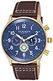 Akribos XXIV Multicolored Complications Men's Watch - 3 Subdials On Leather Calfskin with White...