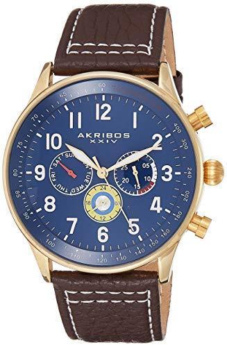 Akribos XXIV Reloj con Movimiento Cuarzo Suizo Man 45 mm