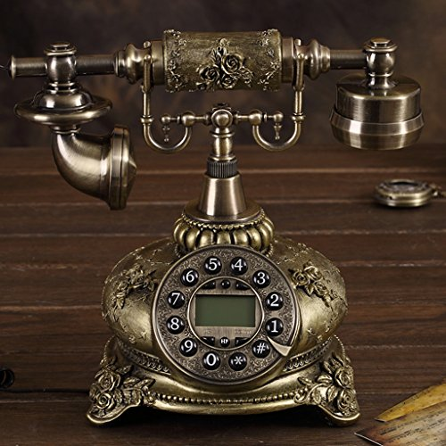 Téléphone Shopping-De style européen Antique Métal Retro Fashion Creative Antique Bronze