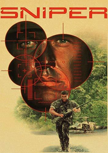 H/S American Sniper Bradley Cooper Película Retro Lienzo Arte Pintura Al Óleo Póster Calidad Decoración del Hogar Mural Pintura Sin Marco50X70Cm R3859