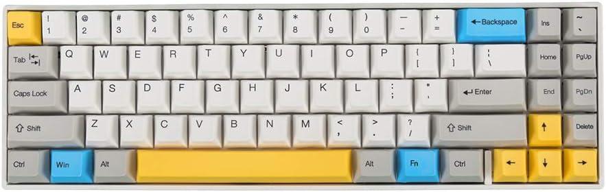 Ganss ALT 71D White Gold 70% Mechanical Keyboard