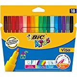 Bic - Kids Visa - Etui carton de 18 Feutres de coloriage