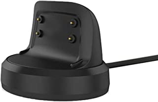 Emilydeals for Gear Fit 2 Charger, Gear Fit 2 Pro Charger, Replacement Charging Dock Cradle for Samsung Gear Fit 2 R360, Gear Fit Pro R365 Smart Watch (Black)