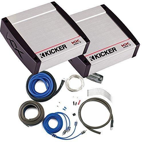 Kicker KX Amplifier Package - Two Kicker KX-Series 200 Watt Full-Range Class-D Stereo Amplifiers and Wiring kit
