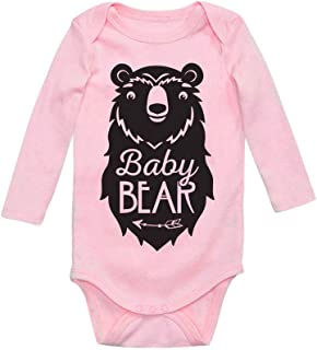 Tstars Baby Bear Cute Gift Little Girl Boy Sibling Family Baby Long Sleeve Bodysuit