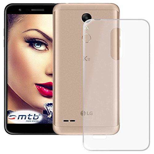 mtb more energy® Schutz-Hülle Clear und Slim für LG K11 (LMX410, 5.3'') - transparent - flexibel - TPU Silikon Hülle Cover Tasche