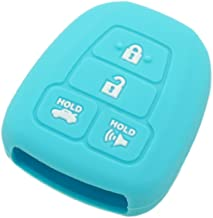 SEGADEN Silicone Cover Protector Case Skin Jacket fit for TOYOTA 4 Button Remote Key Fob CV2407 Light Blue