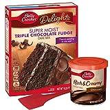 Betty Crocker Triple Chocolate Fudge Cake Mix   Chocolate Frosting   Spatula   Recipe Bundle