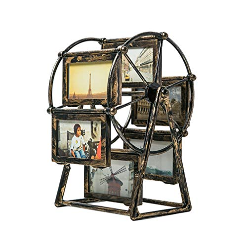 BESPORTBLE Familie Bilderrahmen Windmühle Riesenrad Fotorahmen Retro 4 Familienfoto Babyfoto Hochzeitsfoto Bilder Foto Desktop Bilderrahmen Zuhause Dekoration OHNE Fotos