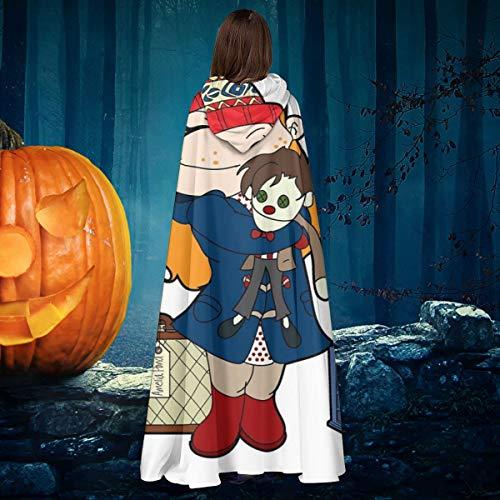 AISFGBJ Amelia Pond Doctor Who Tardis Unisex Navidad Halloween Bruja Caballero con Capucha Albornoz Vampiros Capa Cosplay Disfraz