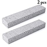 Outgeek 2PCS Pumice Cleaning Stone Toilet Bowl Ring Remover Pumice Stone Cleaner Toilet Bowl Brush