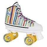 HUDORA Rollschuhe Roller-Skates Candy Stripes, Disco-Roller, Gr. 41, 13055