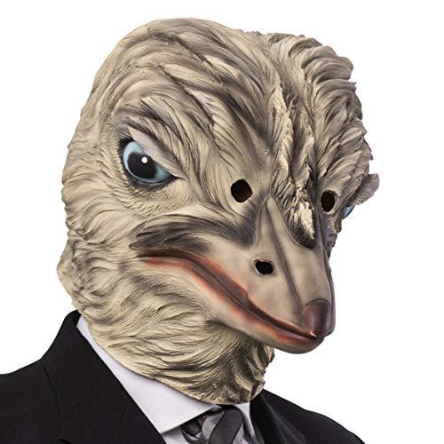 máscara Avestruz látex Disfraz de Carnaval Animales Granja Teatro
