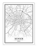 Schwarz Weiß Stadtplan Poster Nordic Wohnzimmer Berlin
