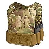 Chase TacticalLow-Vis Vest LVPC–Fully Adjustable,Low Profile, Weapon Pouches–Velcro Area for Placards-forMilitary, Law Enforcement,Combat Training- Unisex, Multicam