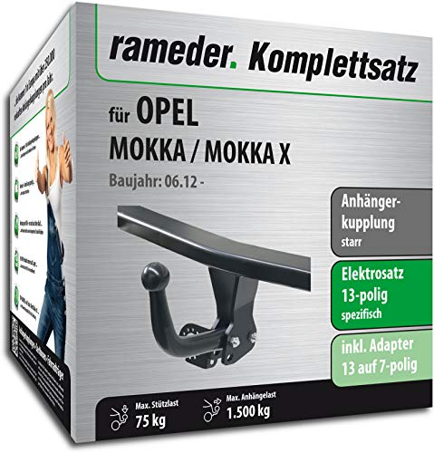 Rameder Komplettsatz, Anhängerkupplung starr + 13pol Elektrik für OPEL Mokka/Mokka X (148162-10264-1)