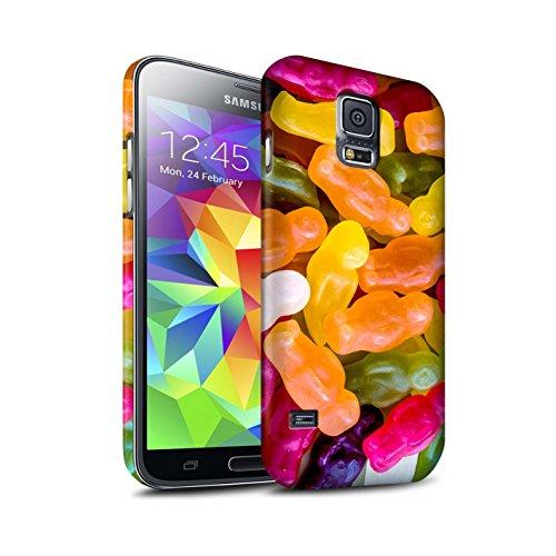 STUFF4 Matte Duro Snap On Custodia/Cover/Caso/Cassa del Telefono per Samsung Galaxy S5/SV / Orsetti di Gomma / Confetteria disegno