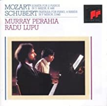 Mozart: Sonata for 2 Pianos in D major. Schubert: Fantasia for Piano, 4 hands in F minor