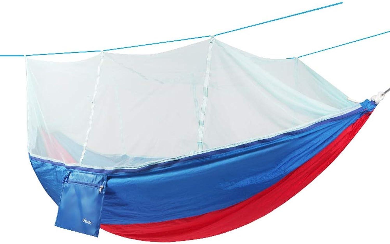 LXJTB Outdoor Outdoor with Mosquito Net Outdoor Hammock Widened Single Double Parachute Mosquito Net Indoor Camping Swing (color   C)