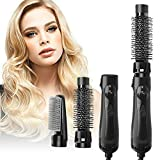 blow dryer hair straightener - 3-in-1 Hair Dryer Brush, Hair Dryer & Volumizer in one, Hair Straightener Curler Dryer Brush in One, Negative Ion Hair Blow Dryer Styler,Lightweight Hot Air Brush for Fast Drying Salon Results