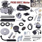 Sengei 80CC Bicycle Engine Kit, Motorized Bike 2-Stroke, Motorized Bike Motor Kit Petrol Gas Motor Engine Set Petrol Gas Engine Kit for 26' or 28' Bicycle (Black)