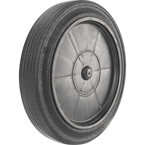 Roll-Tech SL10-58 Snap-Lock Trash Can Replacement Wheel, 10in Wheel-5/8in Bore Fits 5/8in Axle, Black
