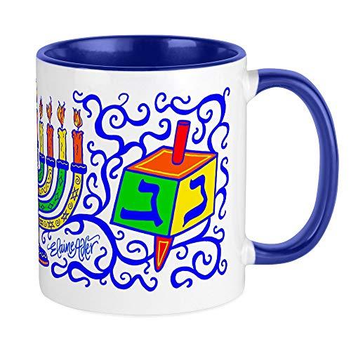 CafePress Dreidles And Menorah Hanukkah Mug Unique Coffee Mug, Coffee Cup