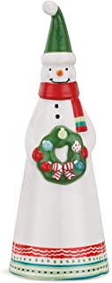 DEMDACO Snowman Cone Shaped Standing 4.5 x 12 Inch Ceramic Tabletop Christmas Figurine