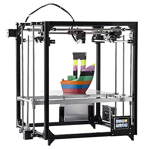 Imprimante 3D Avec Écran Tactile, DIY Kit Écran Tactile Double Buse Automatique De Mise À Niveau Cube Full Metal Grand Place Impression Taille Imprimante De Bureau 3D Avec Lit Chauffant Précision