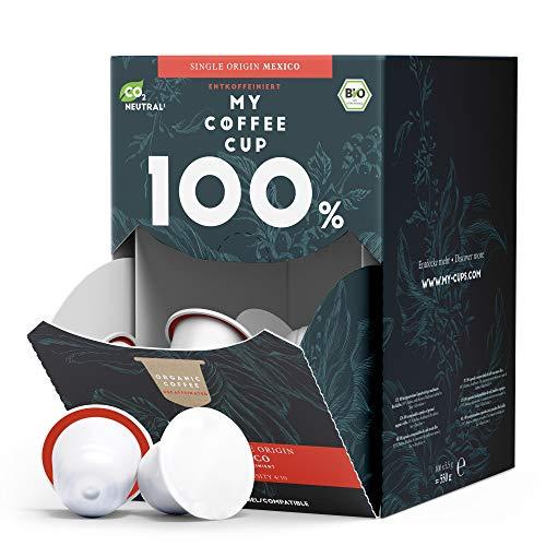 My Coffee Cup – MEGA BOX SINGLE ORIGIN MEXICO DECAF – BIO-KAFFEE I 100 Kaffeekapseln für Nespresso®³-Kapselmaschinen I Industriell kompostierbare Kaffeekapseln – 0% Alu I Nachhaltige Kaffeekapseln