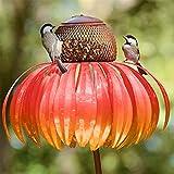 Vogelfutterspender, Wildvogel Futterspender für draußen,Sonnenblume Vogel Feeder Outdoor Dekoration Fenster Garten Blume Vogel Feeder