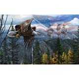 May Freedom Fly Forever - USA Bald Eagle Puzzle - 550 pc Jigsaw Puzzle