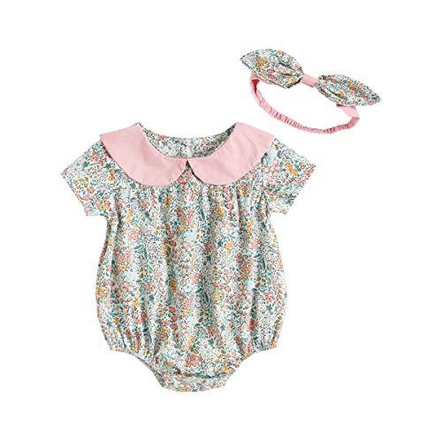 UMore Bebe Niña Camiseta sin Mangas Pantalones Cortos Florales Conjunto de Ropa Verano Recién Nacido Algodón Niñas Bebés Monos Moda Floral Verano Bebé Ropa