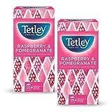 Tetley Infusion Frambuesa y granada afrutada naturalmente sin cafeína - 2 x 25 bolsitas de té (87,40 gramos)