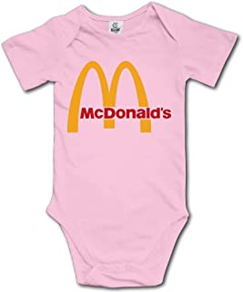 Cute Funny McDonalds Logo Onesie Baby Bodysuits Clothes Short Sleeve Jumpsuit Romper Onesies Outfits for Toddler Boys Girls